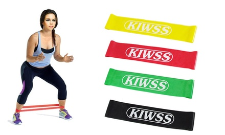 Set of Four Fitness Heavy Duty Resistance Loop Bands: One $12 or Two $19