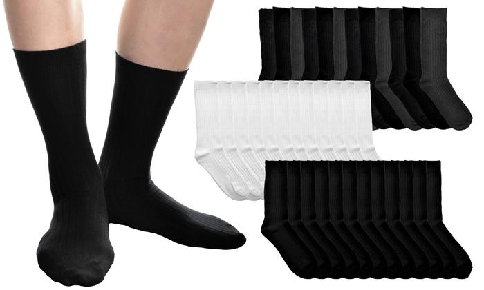 Men's Ribbed Dress Socks (12-Pack)
