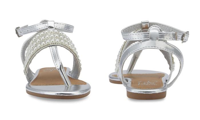 a2ee0bf1c01551 Olivia Miller Girls  Brisee T-Strap Sandals
