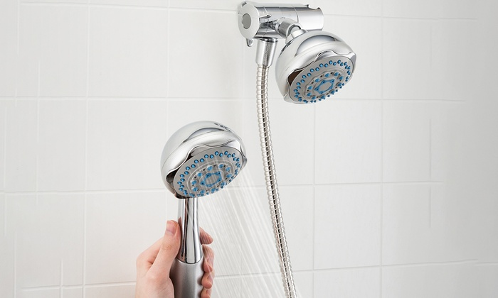 sunbeam 5function dual shower shower massager