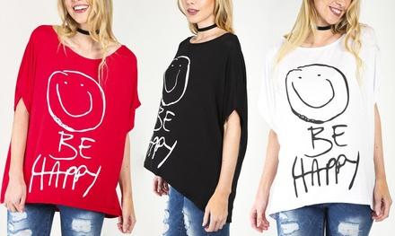 Be Happy Oversized TShirt