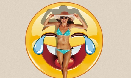 Emoji Beach Round Towel Groupon