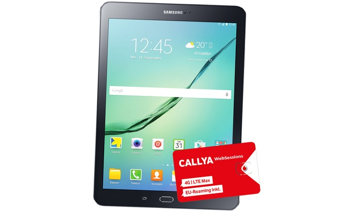 Groupon Goods Global GmbH: Samsung Galaxy Tab S2 inkl. kostenloser Vodafone WebSessions Karte (26% sparen*)