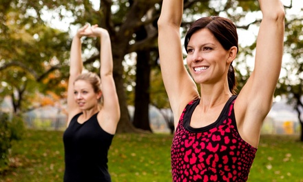 Outdoor or Indoor-and-Outdoor Boot Camp with Custom Meal Planning from Synergy Fitness Boot Camp (Up to 84% Off)