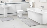 Embossed Memory-Foam Bath Rug Set (3-Piece)