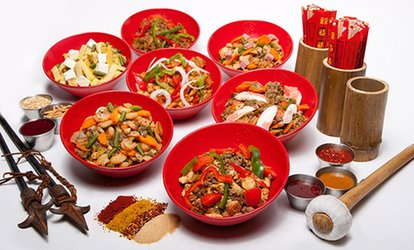 image for Asian Stir Fry at Genghis Grill (38%  Off). Four Options Available.