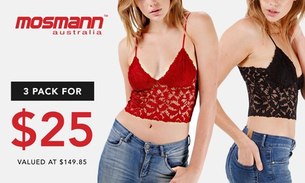 $25 for a Three Lace Cami Combo from Mosmann (Up to $149.85 Value)