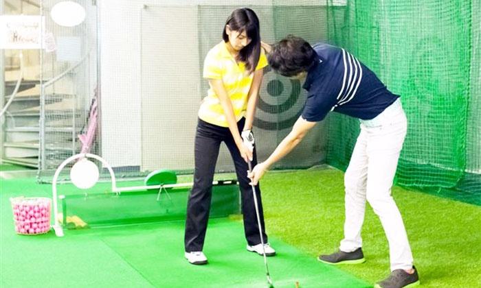 美来インドアゴルフスクール - 美来インドアゴルフスクール: プロの丁寧なレクチャーで、あなたもレベルアップ≪ゴルフレッスン3回(全日利用可)/他1メニュー≫手ぶらOK@美来インドアゴルフスクール