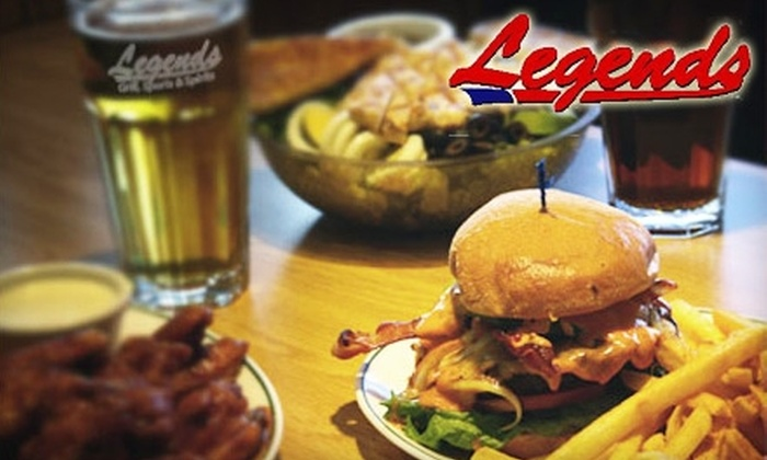 Legends Grill, Sports & Spirits - Convention Center: $7 for $15 Toward Burgers, Wings, and More at Legends Grill, Sports & Spirits