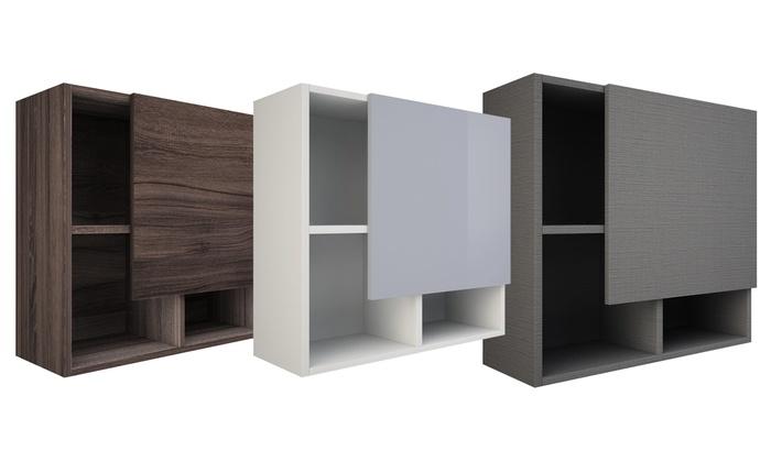 Pensili Bagno Economici.Pensile Bagno Con Ripiani Twist Made In Italy Tft Furniture Disponibile In Diversi Colori