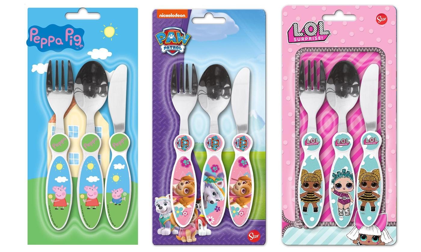Three-Piece Character Cutlery Set for Children