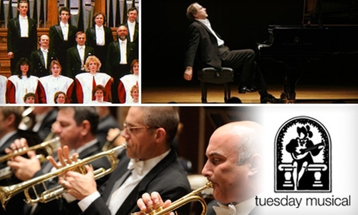 Tuesday Musical Association - University of Akron: $17 Ticket to a Tuesday Musical Concert at EJ Thomas Hall ($35 Value). Choose from Three Shows.
