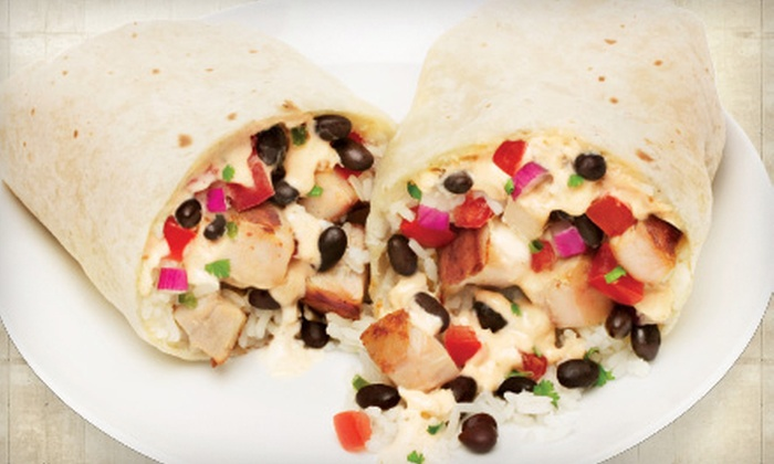 Qdoba Mexican Grill - Multiple Locations: $7 for $14 Worth of Fresh Mexican Cuisine at Qdoba Mexican Grill