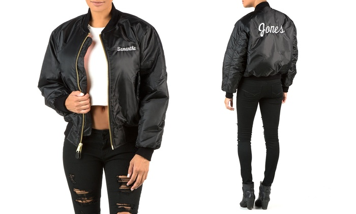 Departure: Personalized Bomber Jacket with Embroidery on the Front, Back, or Both from Departure (Up to 40% Off)