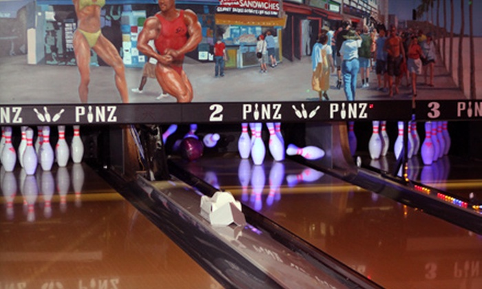 Pinz - Studio City: $25 for Bowling for Four at Pinz in Studio City (Up to $96 Value)