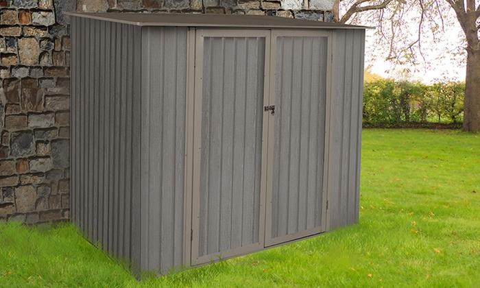 sélection premium 95246 8cd32 Abris jardin métal aspect bois vieilli | Groupon Shopping