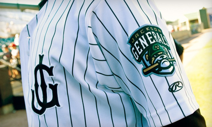 Jackson Generals - Jackson: $17 for Four Tickets to Jackson Generals Baseball Game Plus Concessions