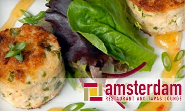 Amsterdam Cafe - Multiple Locations: $20 for $40 Worth of New American Fusion and Tapas at Amsterdam Restaurant and Tapas Lounge