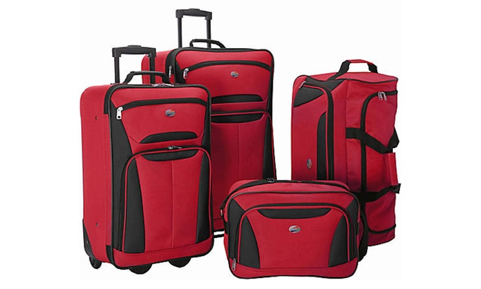 American Tourister Ultra-Lightweight Rolling Luggage Set (4-Piece ...
