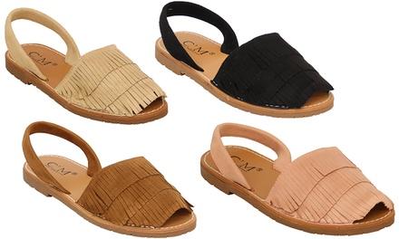 Menorcan Slip-On Peep Toe Sandals
