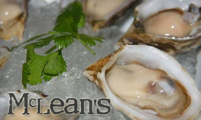 McLean's Restaurant - Downtown Vancouver: $20 for $40 Worth of Casual Upscale Cuisine and Drinks at McLean's Restaurant