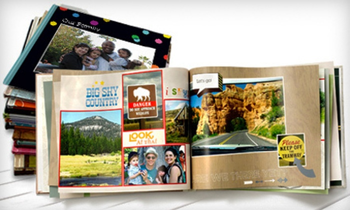 """Shutterfly Photo Book: 8""""x8"""" or 8""""x11"""" Customizable Photo Book from Shutterfly (Up to 67% Off)"""
