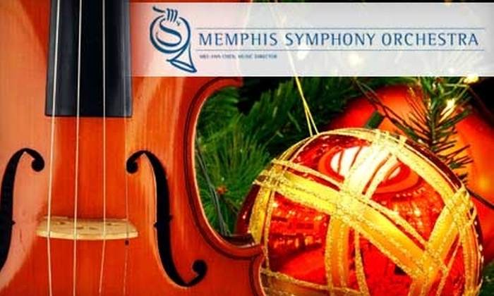 """Memphis Symphony Orchestra - Memphis: $25 for One Ticket to """"Home For The Holidays"""" Performed by the Memphis Symphony Orchestra on Dec. 4 (Up to $78 Value)"""