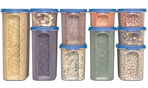 Plastic Food Storage Containers Set (20-Piece)