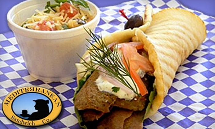 Mediterranean Sandwich Co. - Central Business District: $5 for $10 Worth of Sandwiches, Wraps, Salads, and More at Mediterranean Sandwich Co.