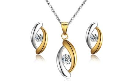 Sreema London Schmuck-Set mit Halskette, Anhänger und Ohrstecker in Silber und Gold (Koln)
