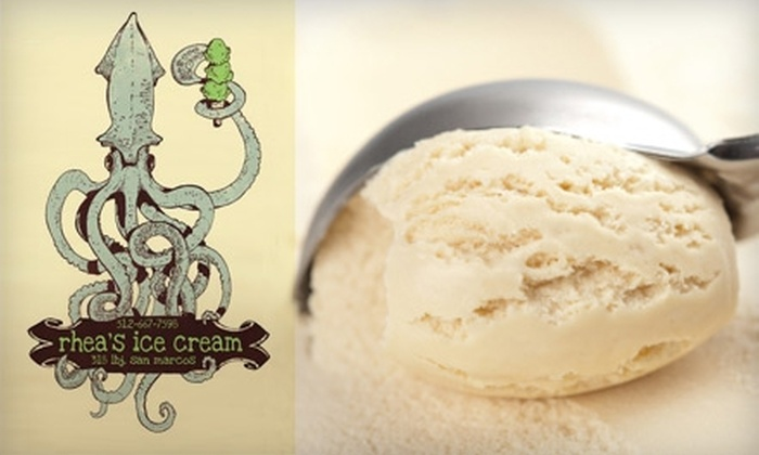 Rhea's Ice Cream - San Marcos: $4 for $8 Worth of Gourmet Ice Cream at Rhea's Ice Cream in San Marcos