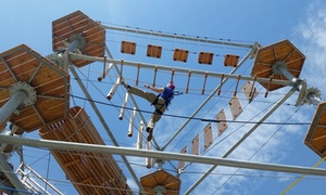 Synergy Woods: 90-Minute Ropes Course, Zipline, and Climb Package for One or Two at Synergy Woods (40% Off)