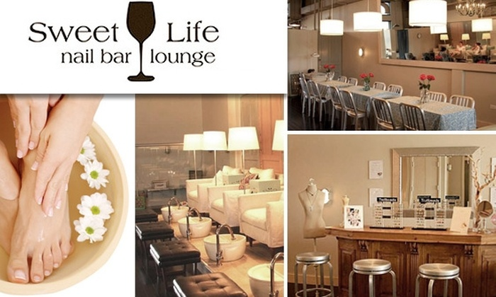 """Sweet Life Nail Bar and Lounge - Multiple Locations: Two """"Essential Plus"""" Mani-Pedis at Sweet Life Nail Bar & Lounge (Normally $130)"""