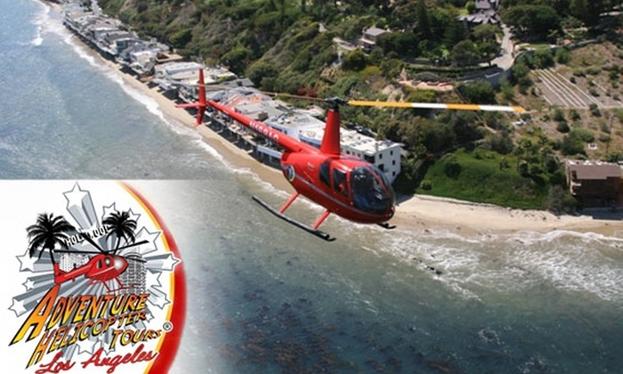 Adventure Helicopter Tours - Arleta: $199 for a Helicopter Tour of Hollywood for up to Three People from Adventure Helicopter Tours (Up to $435 Value)