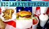 Half Off at Big Larry's Burgers
