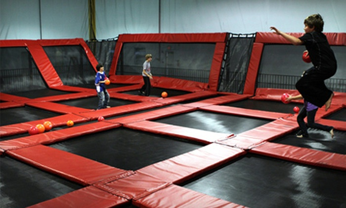Xtreme Trampolines - Carol Stream: Group Bouncing at Xtreme Trampolines in Carol Stream. Four Options Available.