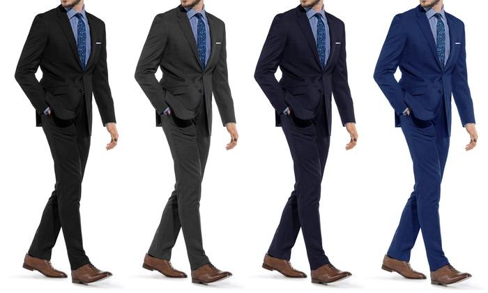 Braveman Men's Slim-Fit Suit (2-Piece)   Groupon