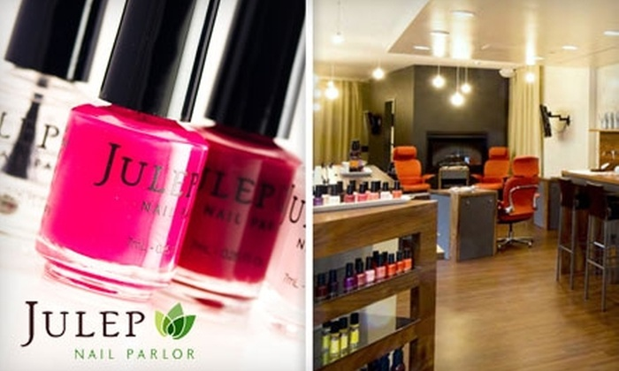 Julep Nail Parlor - Multiple Locations: $39 for a Porch Pedicure, Express Facial, and Beverage at Julep Nail Parlor (Up to $98 Value)