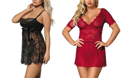 Women's Lace Romance Babydoll Lingerie 44b4464a-4f97-49eb-805c-c637685ca0c5
