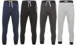 Men's Marled Slim Fit Jogger with Contrast Zippers (2-Pack)