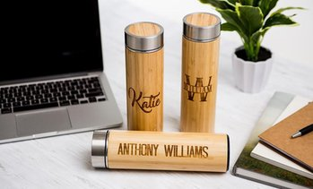 Up to 68% Off Personalized Bamboo Insulated Water Bottles