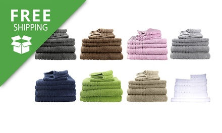 Free Shipping: Egyptian Cotton Bath Towel Combo Set: 7Piece $39 or 14Piece $59