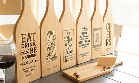Personalized Wine-Shaped Cutting Boards from Qualtry (Up to 64% Off). Five Options Available. af42c0e6-0b6a-420b-a143-0c611a82d590