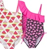 Girls' Printed One-Piece Bathing Suit