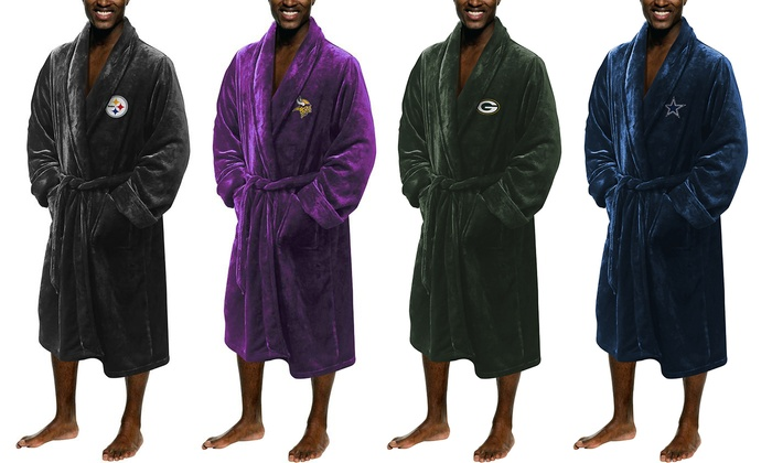 low priced b05f0 6415d Up To 30% Off on NFL Silk Touch Lounge Robe   Groupon Goods