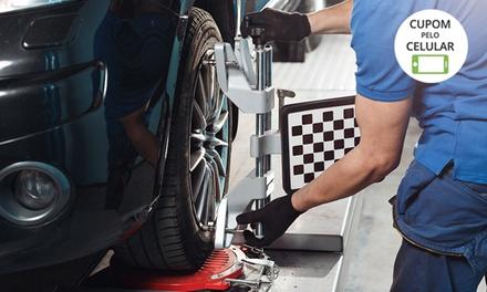 Alinhamento, balanceamento, rodízio de pneus e mais (opção com troca de óleo) na Speed Car Pneus – Portão