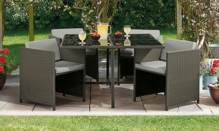 Siena Five-Piece Cubic Rattan-Effect Furniture Set from £250 With Free Delivery