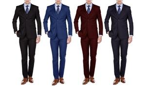 UOMO Men's European Cut Slim Fit Suits (3-Piece)