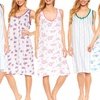 Trulee Women's 100% Cotton Scoop-Neck Nightgown