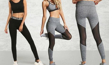 1 o 2 pares de leggins deportivos para mujer